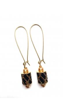 Charming Channel Earrings - Gold