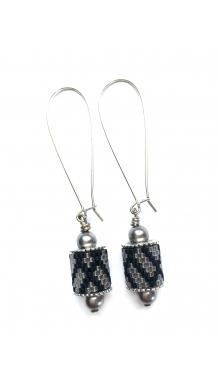 Charming Channel Earrings - silver
