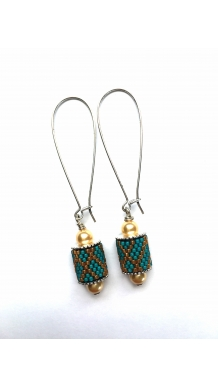 Charming Channel Earrings - Turquiose